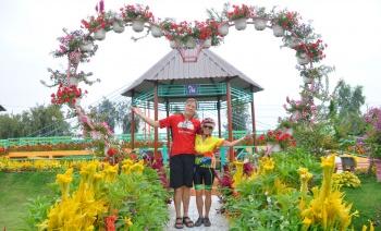 Cycling in Sa Dec Flower Village